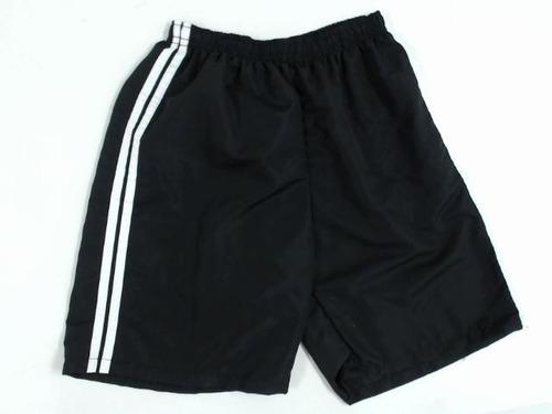 bermudas short tactel esporte com faixa dos  2 lados