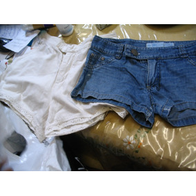 dc3b37279c429 Lote 2 Shorts Blanco C Broderie Tiro Alto Y Jean 28 Noppi Ba