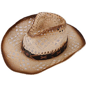 042de9e37f19d Sombrero De Vaquero De Paja Tejido Unisex Con Banda Decorati