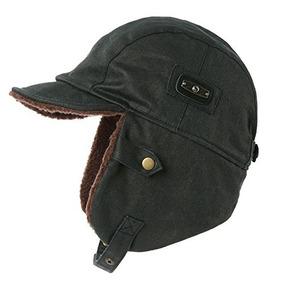 ffabf8466a011 Siggi Sombrero De Piloto Para Hombre Gorra De Aviador Marron