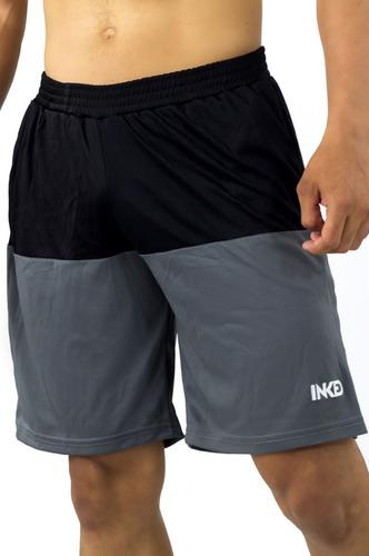 bermudas shorts caballeros inked gris negro detal mayor