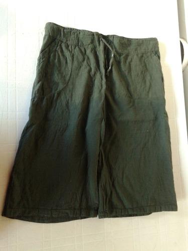 bermudas verdes de mujer tipo bambula talle m