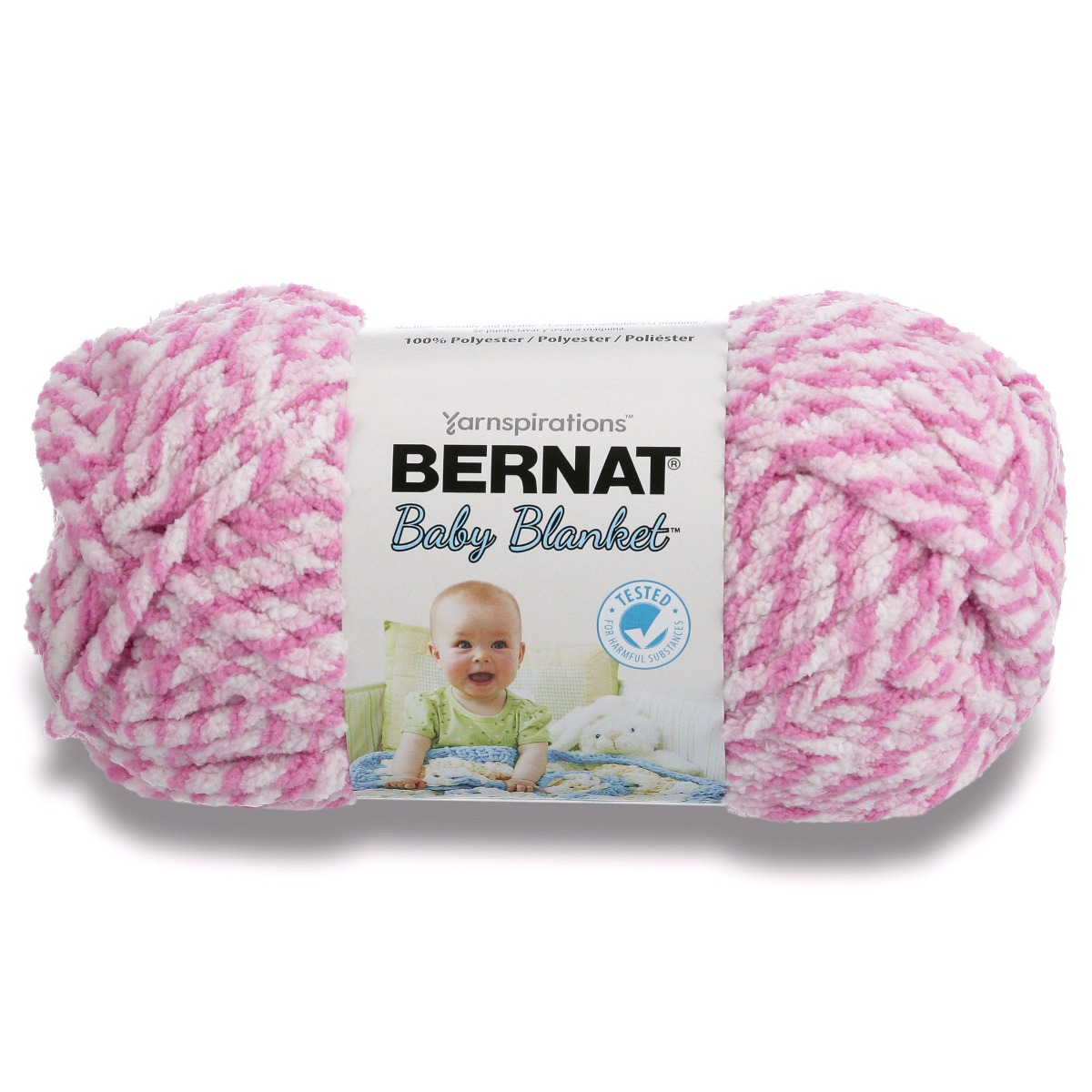 Bernat Big Ball Baby Manta Twist Yarn 10 5 Onzas Pink S ...
