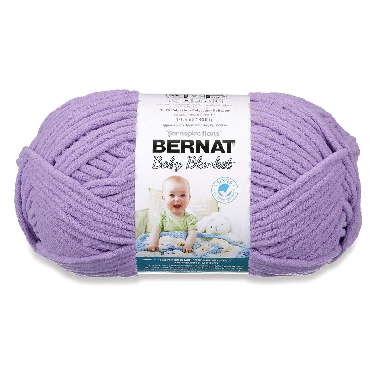 Bernat Manta Del Bebé Del Hilado, 10.5 Onza, Bebé Lila, Sol ...