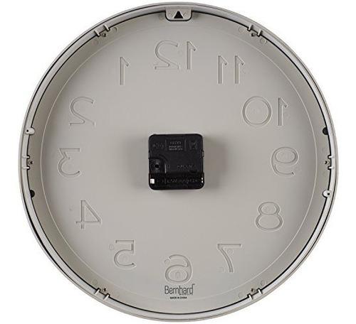bernhard products - reloj de pared grande, 12.5  silent non-