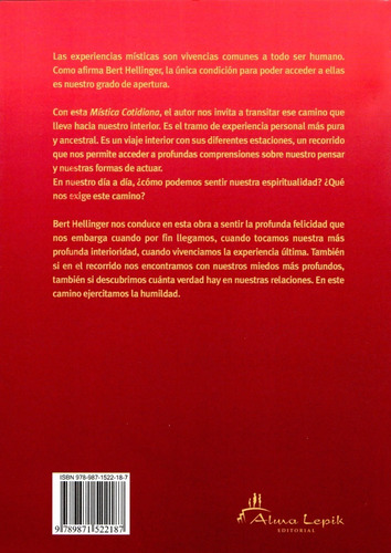 bert hellinger - mística cotidiana - editorial alma lepik