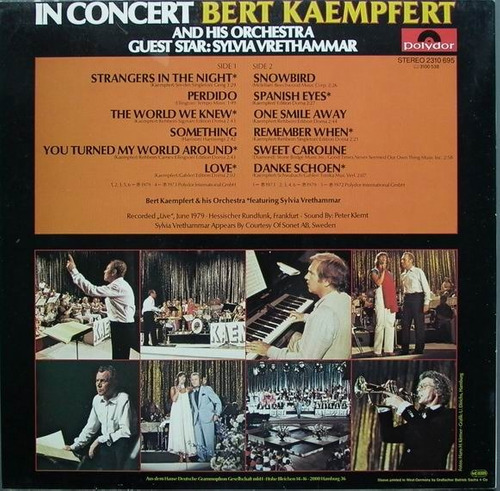 bert kaempfert - lp in concert (1979)