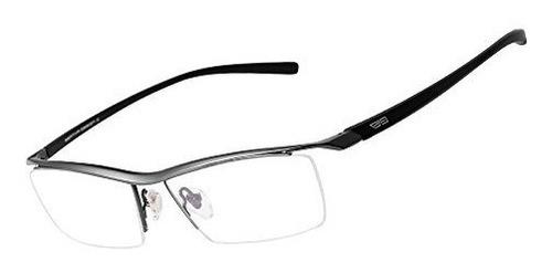 bertha men z pure titanium semirimless anteojos prescripcion