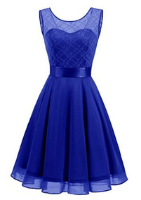 Vestidos Azules Cortos Vestidos De Mujer Liso En Baja