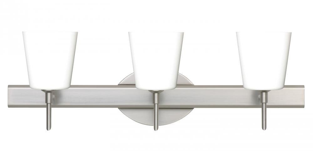 Besa lighting 3sw 513107 sn 3x40w g9 canto 5 wall sconce wit cargando zoom aloadofball Choice Image