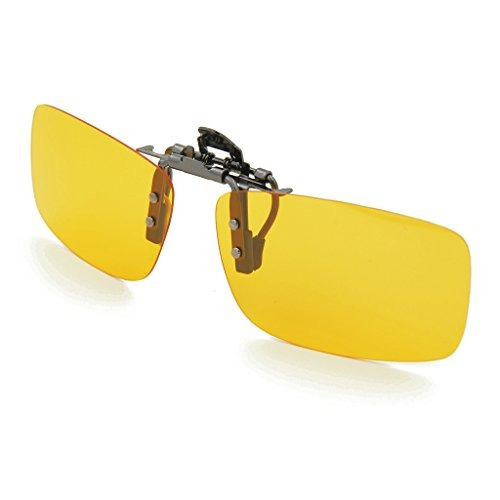 besgoods amarillo noche visión polarizada clip-on flip up