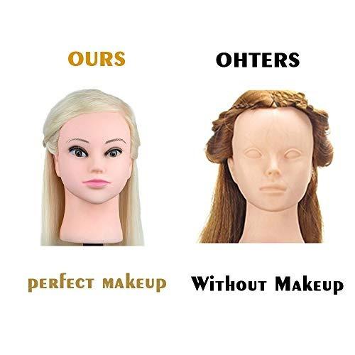besmall doll 22' hairdressing mannequin manikin training he