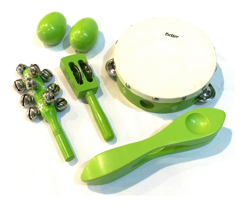besser lt5g kit set percusion infantil niños escuela + bolso