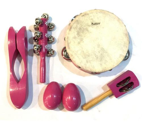 besser lt5p kit set percusion infantil niños escuela + bolso