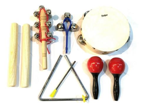 besser lt6a kit set percusion infantil niños escuela + bolso