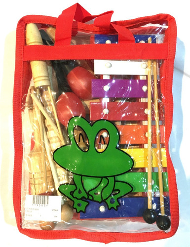 besser lt8 kit set percusion infantil niños escuela + bolso