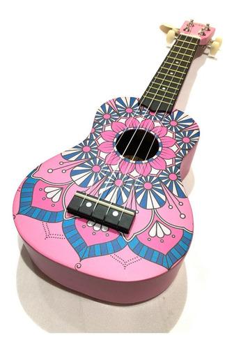 besser usc01 ukelele soprano mandala rosa caoba diseño
