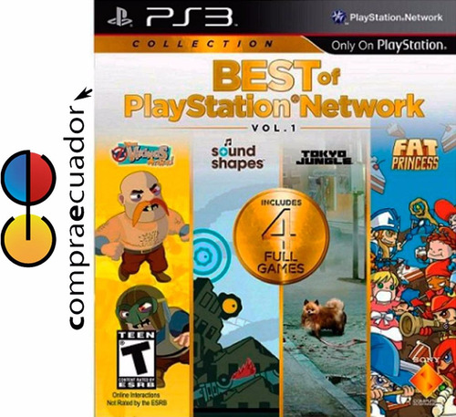 best of playstation network ps3 juego físico nuevo sellado