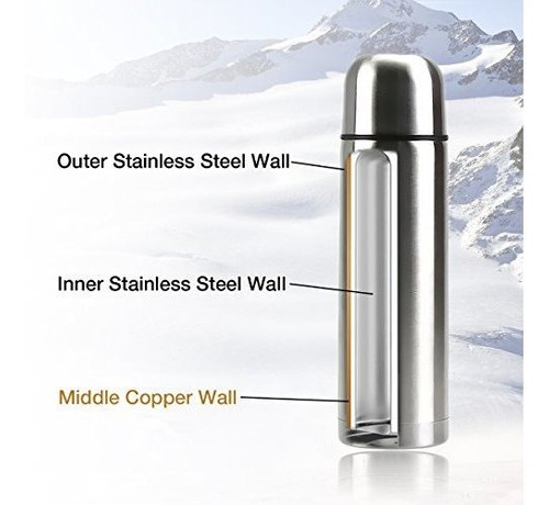 best stainless steel thermos bottle new triple wall insulate