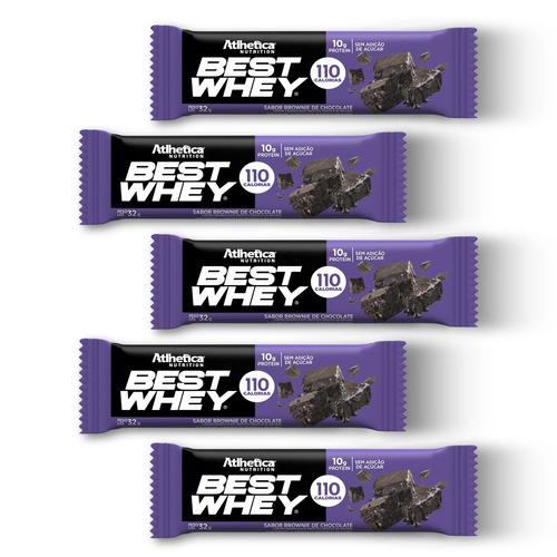 best whey bar (5 unidades) brownie chocolate
