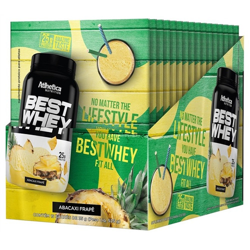 best whey display c/15 abacaxi