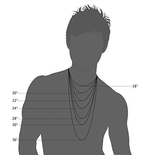 besteel jewelry 4mm para hombre de acero inoxidable de acero