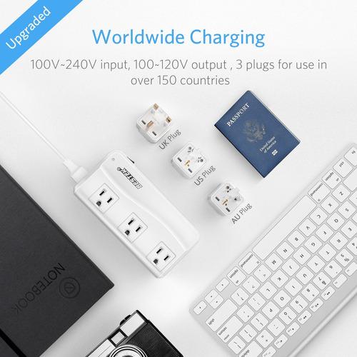 bestek universal travel adapter 220v to 110v voltage convert