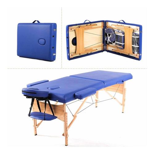 bestmassage camilla para masajes portátil - color azul.