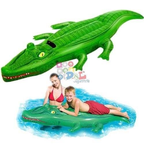 bestway cocodrilo inflable flotador grande 2.03 x 1.17 cm