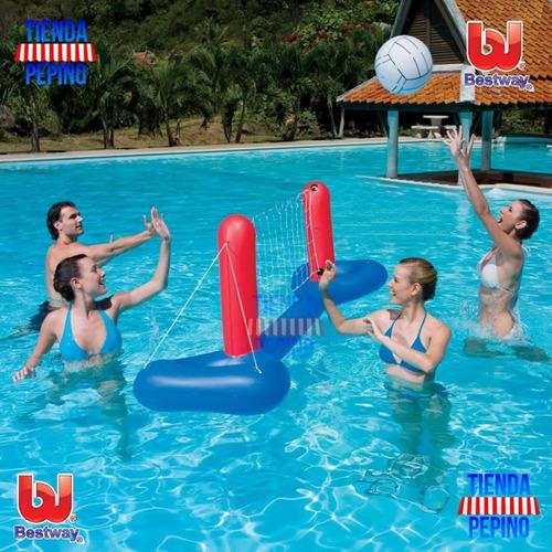 bestway red volley voley inflable pileta agua tienda pepino