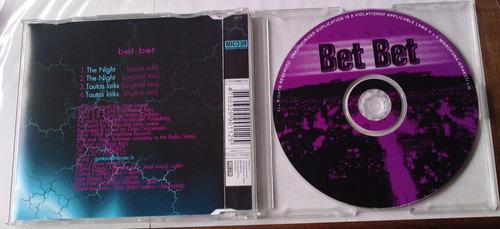 bet bet the night cd single hecho en suiza 1998 c/4 tracks