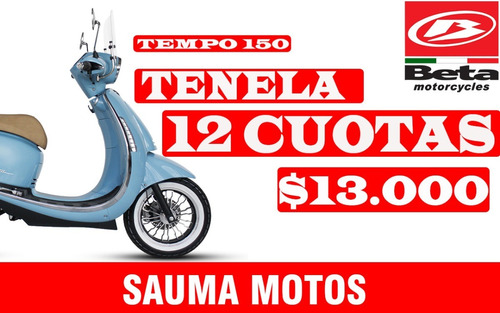 beta arrow / tempo de luxe 150 sauma 12 cuotas sin interés
