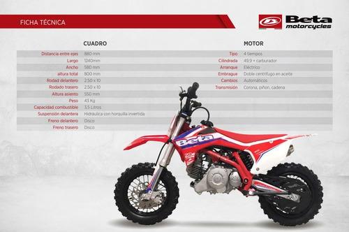 beta rr mini 50 kinder 4t 0km $45,000 antic minicross  niños