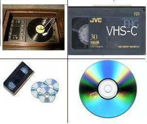 betamax.  betamax a dvd.  vhs sistema pal - lp a cd