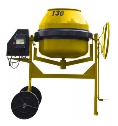 betoneira 130 litros com motor e chave nr12 220v rotterman
