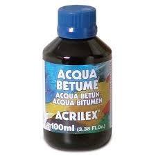 betume solúvel em água acqua betume 100ml acrilex kit c/3