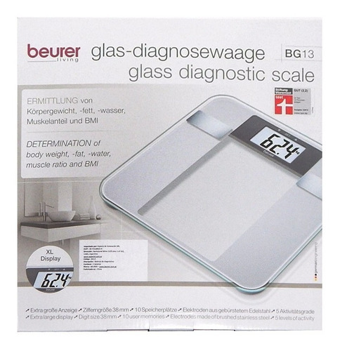 beurer bg 13 balanza personal digital diagnóstico + cuotas