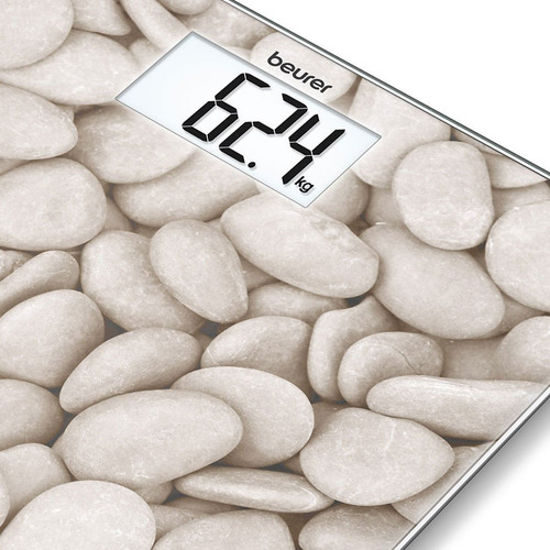 beurer gs 203 balanza digital personal de vidrio stone