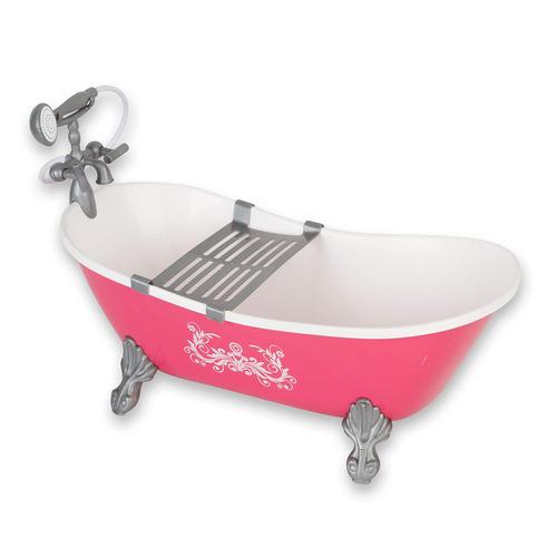 beverly hills juego de muñeca de 18  de baño, incluye tin