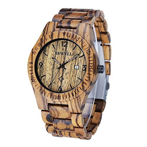 Para De Reloj Bewell Cuarzo Madera Hombres Relojes Con FJc315TulK