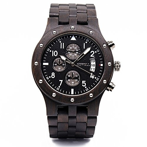 bewell w109d sub-dials reloj de pulsera de cuarzo reloj de p