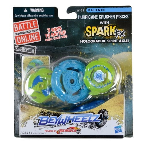 beyblade beywheelz w-32 hurricane crusher pisces !