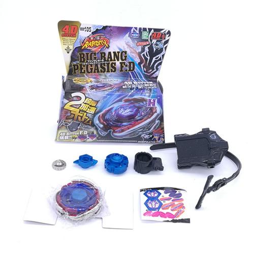 beyblade big bang pegasus metal+super lançador+frete gratis