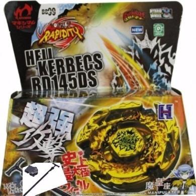 beyblade ferro bb99 hell kerbecs lançador 2 ponteira