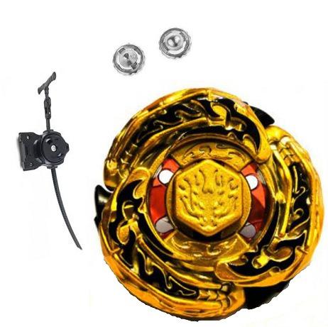 beyblade metal ldrago gold  lançador + 2 pontas