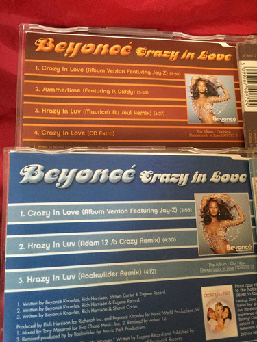 beyoncé crazy in love cd 1 y 2 importados inglaterra