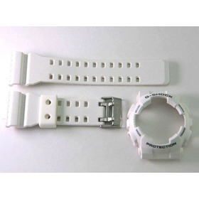 Bezel + Pulseira Casio G-shock Branco Fosco Ga-100 Ga-110