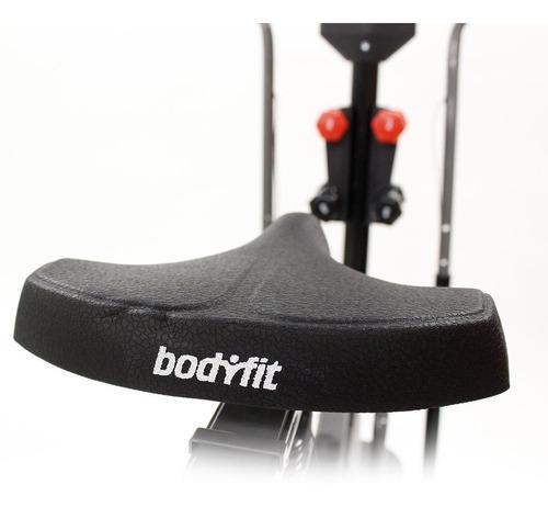 bf-elmax4 eliptica multifuncional 4 en 1, bicicleta, eliptica, twist, mancuerna y sensor cardio