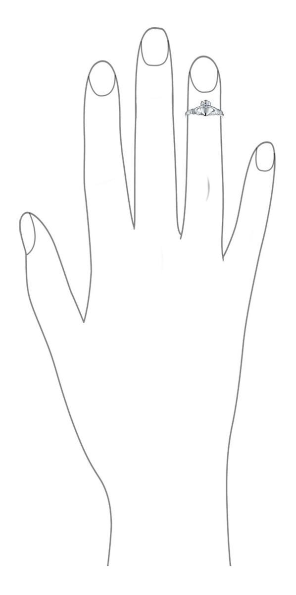 Sterling Silver Anillo del dedo del pie-bandas Corazón