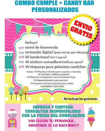 bia kit cumpleaños y candybar envio gratis